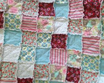 Beautiful Baby / Toddler Girl Rag Quilt kit.