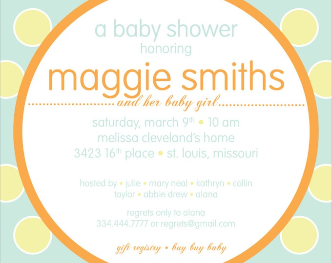 Modern Polka Dot | Baby Shower Invitation