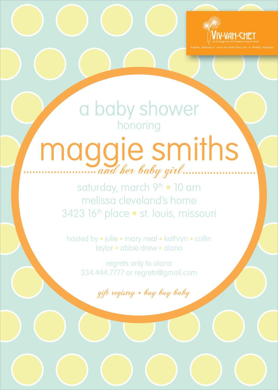 Modern Polka Dot | Baby Shower Invitation