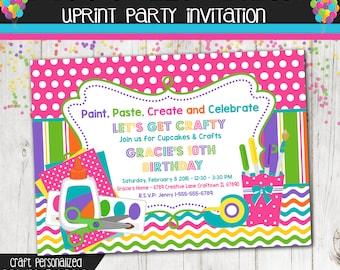 Craft Birthday Party Invitation - Paint - Art - Crafts - Birthday Party