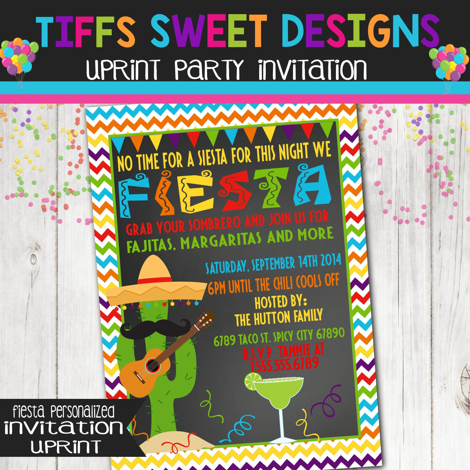 zoom - Mexican Party Invitations