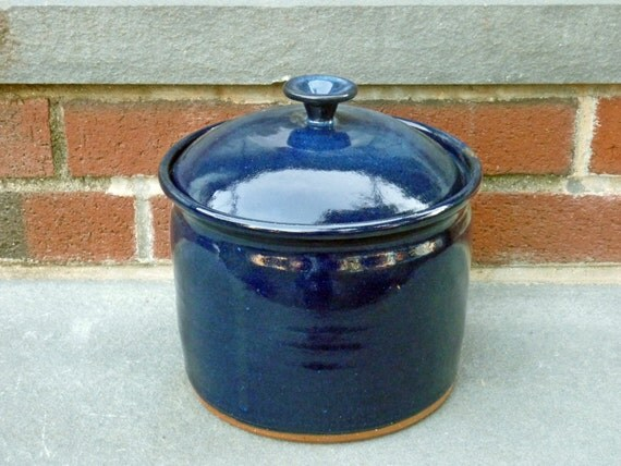 kitchen canister pottery canister deep blue stoneware kitchen canisters pottery canisters kitchen
