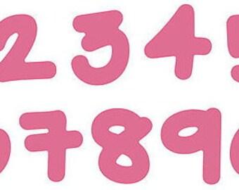 Number Die Cuts