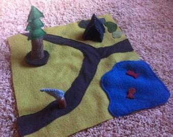 Wool play mat