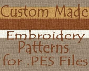Custom Embroidery Machine Patterns - PES File Digitizing