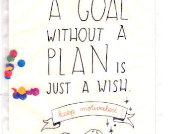 Keep motivated - postcard & confettis