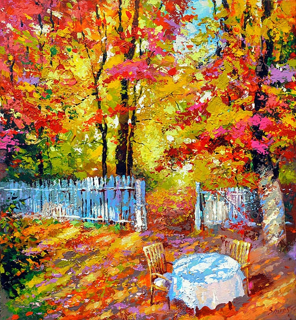 Country House Contemporary Palette Knife Oil By Spirosart
