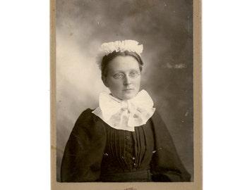 Vintage 1880s Victorian Woman Cabinet Card or Carte De Visite
