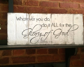 Glory of God - Hand Painted Wood Sign