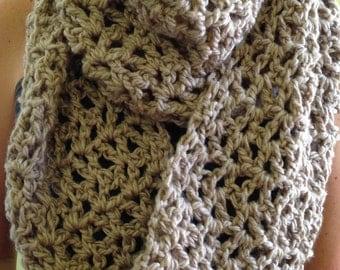 Versatile Crocheted Infinity Cowl Scarf