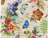 Decoupage Paper Napkins | Summer of Butterflies and Flowers  | Paper Napkins for Decoupage