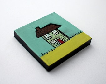 House ceramic tile, house warming present, New home gift.