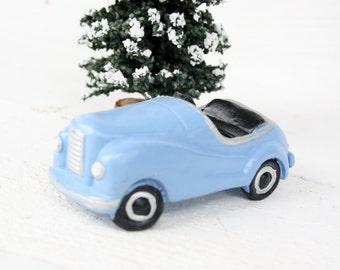 Vintage Village Light Blue Car