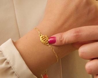 Delicate gold Allah Bracelet