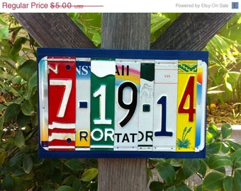 ON SALE Custom Made To Order License Plate Sign Using Recycled License Plates Letters and Numbers Wedding, Birthday, Save the Date, Just Mar