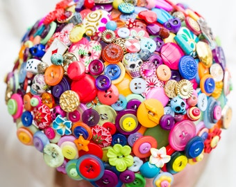 Mexican fiesta Day of the Dead inspired button bouquet