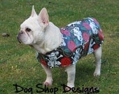 Skulls and Roses Rain Jacket for French Bulldogs
