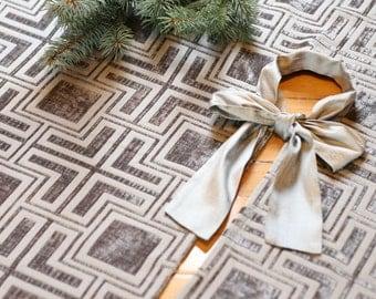 christmas tree skirt large tree skirt modern tree skirt chenille tree skirt silver - Large Christmas Tree Skirts