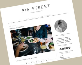 Responsive Premade Blogger Templates - Responsive blogger template - 9th Street