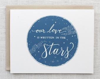 Written in the Stars Screen Printed Card