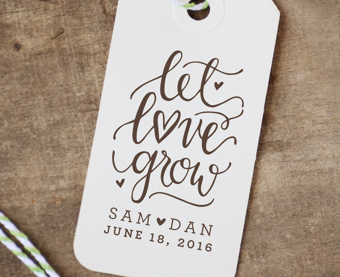 personalized let grow rubber st wedding favor seed