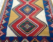 Sunshine Kilim - qashqai ghileem - Fars - South west Persia - 20Cty - 231x160cm - 100% fine wool