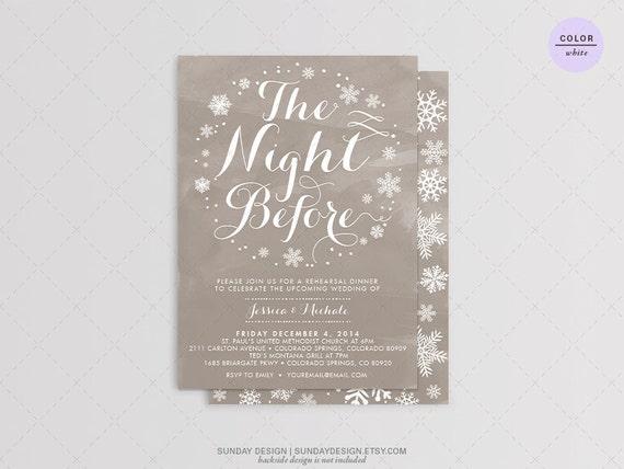 Pre Wedding Dinner Invitation: The Night Before Wedding Rehearsal Dinner By SundayDesign