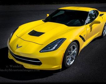 Yellow C7 Chevrolet Corvette Stingray E192