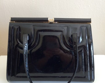 Vtg Patent Leather Purse