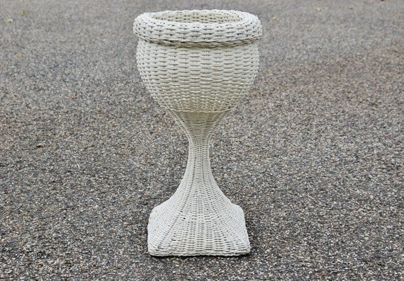 Wicker Plant Stand French Country Woven Wicker Rattan Wood