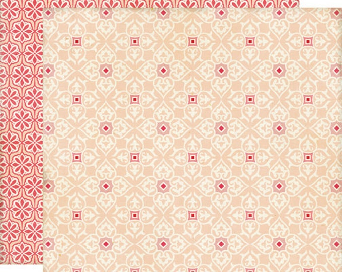 2 Sheets of Echo Park Paper THIS & THAT Graceful 12x12 Scrapbook Paper - Lace