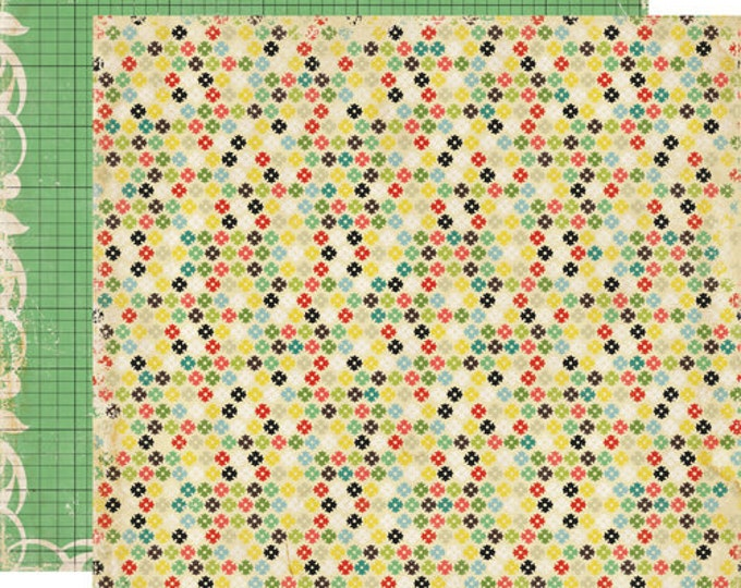 2 Sheets of Echo Park Paper FOR THE RECORD 12x12 Scrapbook Paper - Fabric Store