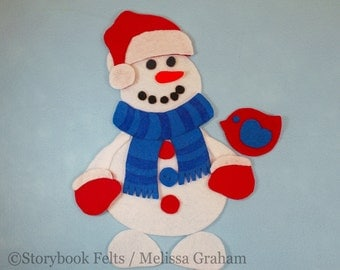 Shop Closing Sale - Build A Snowman Boy Felt Snowman Set