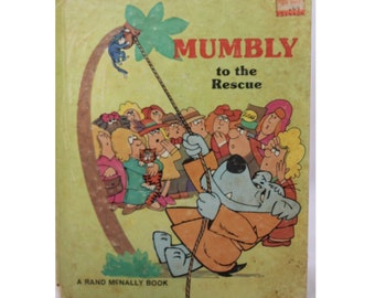Hanna-Barbera's Mumbly to the Rescue, Jean Lewis, Marilou Wise, 1977, Vintage Picture Book, Vintage Children's Book
