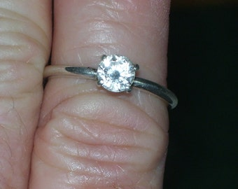 Sterling CZ size 8 ring