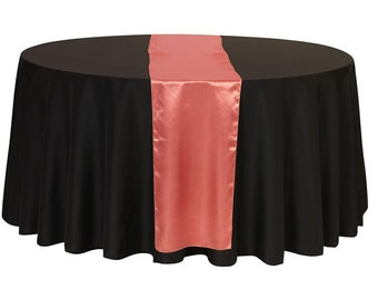 Coral Satin Table Runner | Wedding Table Runners