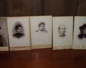 Antique Cabinet Card Photos of Women