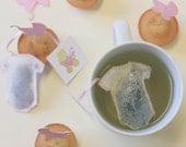 Tea Bags baby, onesie shaped . Birth . Baby shower . Girl (10)