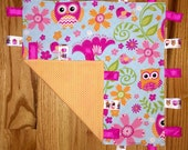 Items Similar To Owl Taggie Blanket On Etsy