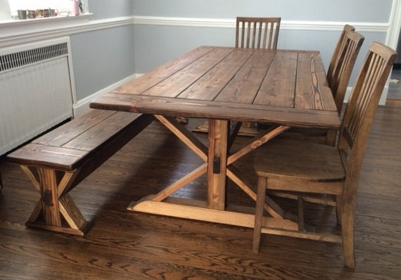Kent Dining Table Trestle X Farmhouse Reclaimed Wood : il570xN7325222111ii6 from www.etsy.com size 570 x 398 jpeg 57kB