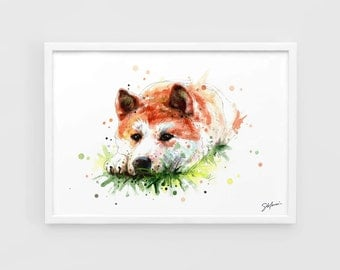 Hachi: A Dog's Tale (Animals, Movie TV) - A3 Art Prints of the Original Watercolors Paintings