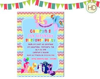 My Little Pony Invitation, Pony Invitation, My Little Pony Birthday Invitations, Pony Invitations, Rainbow Invitation