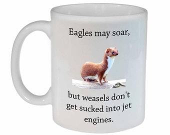 Eagles and Weasels- funny coffee or tea mug