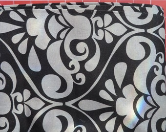 Large Black and Gray Grey Divine Damask by Michael Miller
