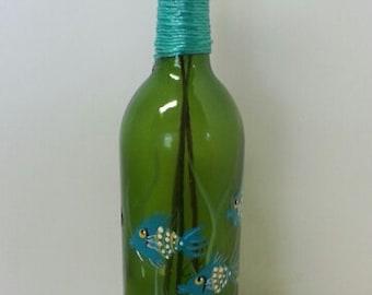Hand-Painted Wine Bottle Incense Burner
