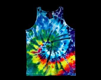 Pinwheel Spiral Tank Top Tie Dye Shirt