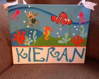 Finding Nemo nursery sign.  Great for baby's room