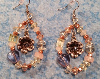 Hand Beaded Floral Earrings