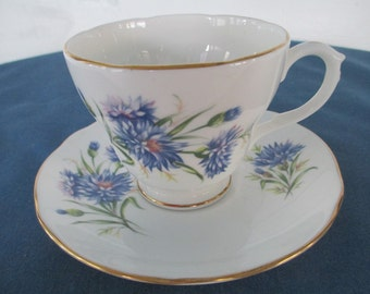 Vintage Duchess Blue Cornflower Bone China Tea Cup Marked Made In England Bone China Collectibles Housewares Serving Home Decor