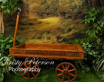 Antique Wagon for Newborns, Babies, Toddlers Digital Background for Photographers